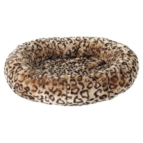 catalogo candele chion faux fur leopard print pet bed small oka