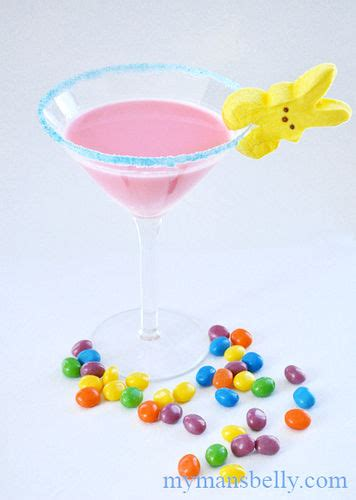 martini easter marshmallow bunnies jelly bean martini sweetens up