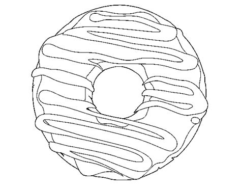 coloring page of a donut homer with a donut coloring pages