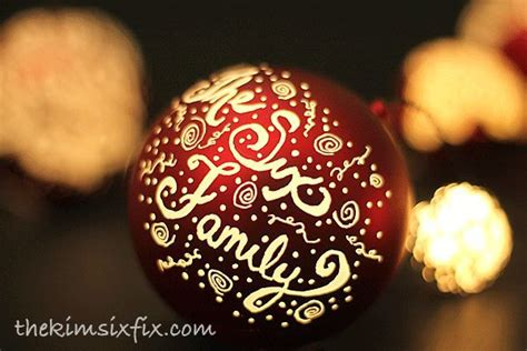 hometalk engraved  illuminated plastic ball ornaments