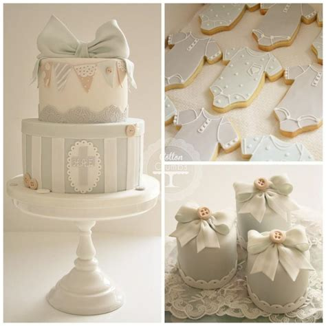 wedding cakes christening cake 1987645 weddbook christening cake iced biscuits and mini cakes 1930640