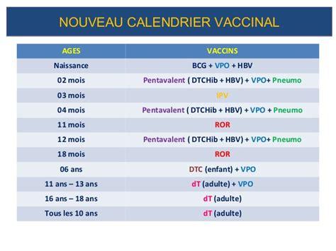 Calendrier Vaccins Vaccins Pev Nouveau Calendrier