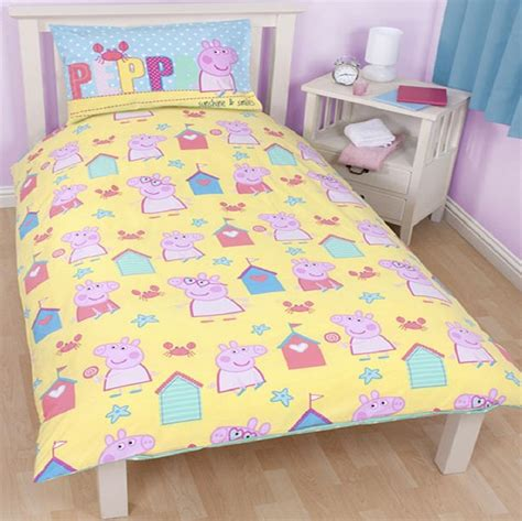 peppa pig comforter set peppa pig seaside single panel reversible duvet set quilt