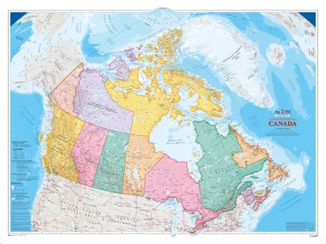 atlas map of canada canada wall map shop at everywheremaps store