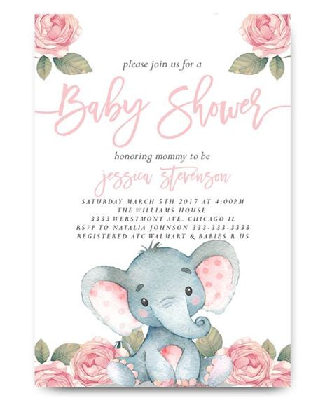 baby shower invites elephants best 25 elephant baby showers ideas on