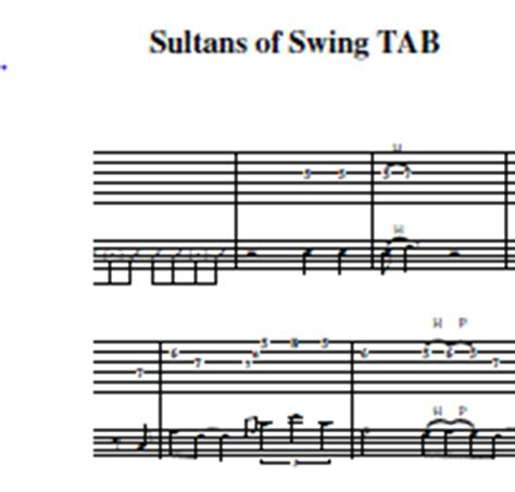 sultans of swing tab acoustic john putnam