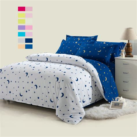 star bed hot sale 4pcs white moon and star bedding set white bed