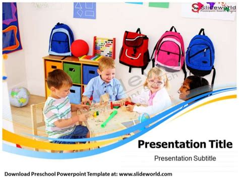free preschool powerpoint templates preschool powerpoint template slide world