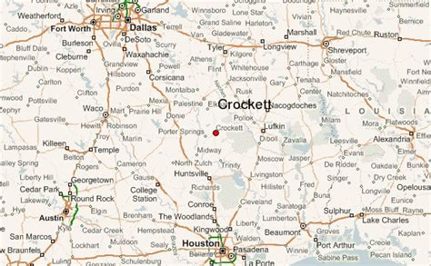 map of crockett texas crockett texas location guide