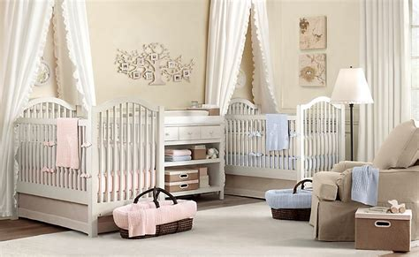 Charming Modern Style Nursery Decorating Ideas White Cream