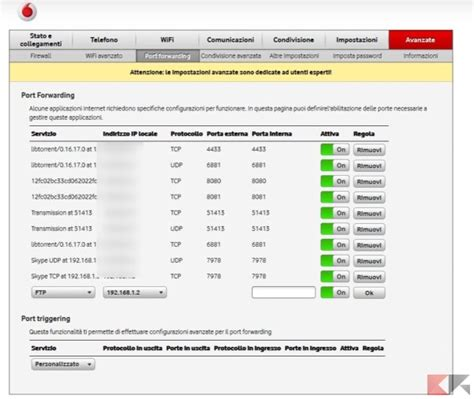 porta in vodafone come aprire le porte router forwarding