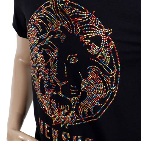versus versace border pattern t shirt trendy and fashionable t shirts with rhinestone design by