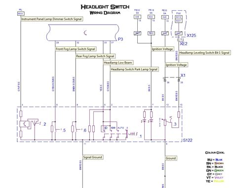 car headlight switch wiring diagram wiring diagram