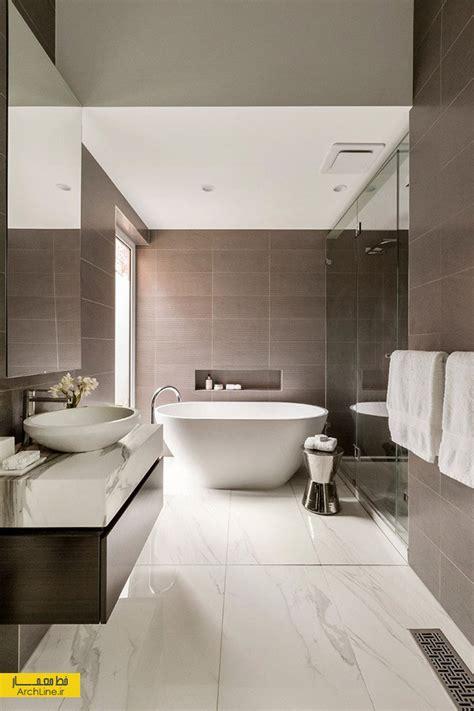beige bathroom designs 2018 ۱۸ نمونه طراحی سرویس بهداشتی مدرن با تایل های بزرگ سرامیک