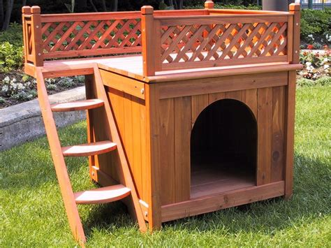 balcony view dog house dog house deck pet view indoor outdoor balcony lattice merry cedar new dog