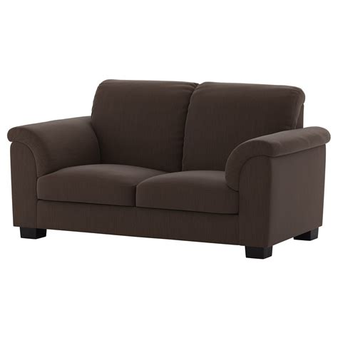 two seat sofas tidafors two seat sofa hensta dark brown ikea