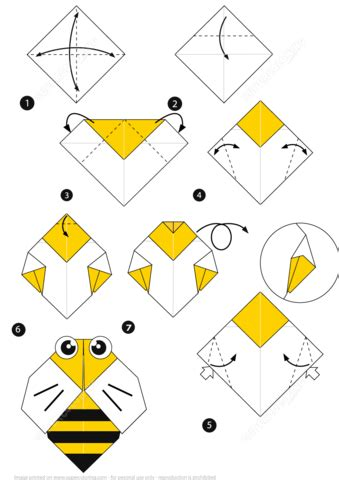 How To Make A Paper Bee - origami bee alfaomega info