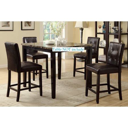 Leather Parson Bar Stools by Set Of 4 Bar Stools Espresso Faux Leather Parson Counter