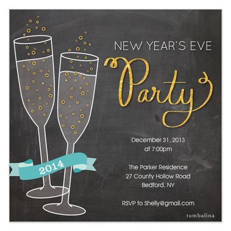 new year invite templates free new years invitations free