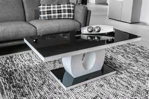 table basse design verre et bois blanc laqu 233 noir hore