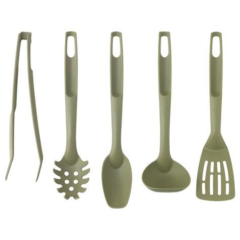 kitchen utensils design speciell 5 piece kitchen utensil set dark green ikea