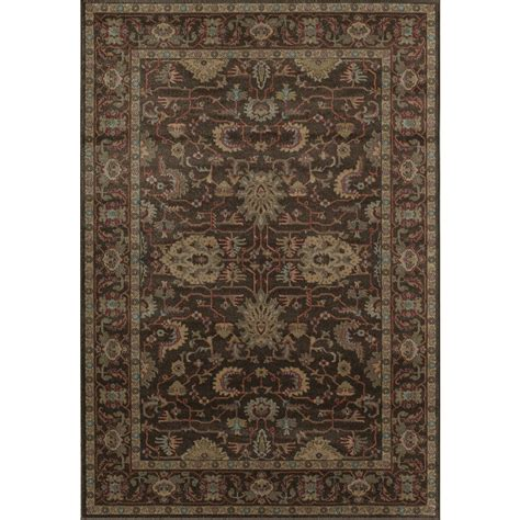 Shop Area Rugs Shop Rugs America Ziegler Brown Rectangular Indoor Woven Area Rug Common 5 X 8 Actual 63 In
