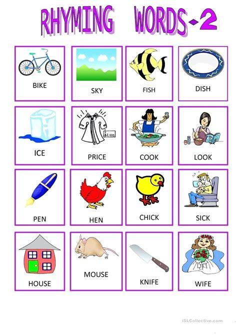 printable printable rhyming worksheets for kindergarten