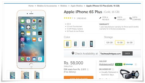 buy apple iphone 6s plus in india at rs 58 000 only