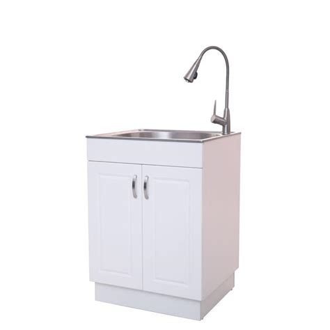 all in one utility sink glacier bay ql033y all in one stainless steel countertop