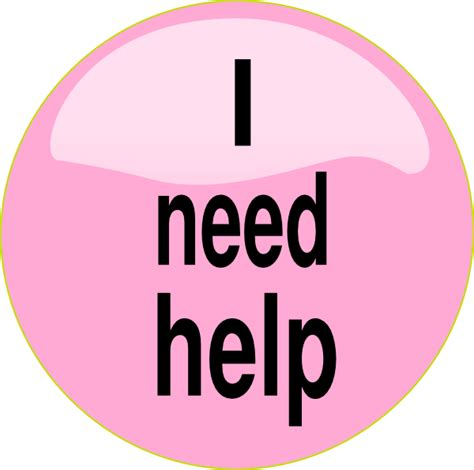 i need help pink button clip at clker vector clip royalty free domain