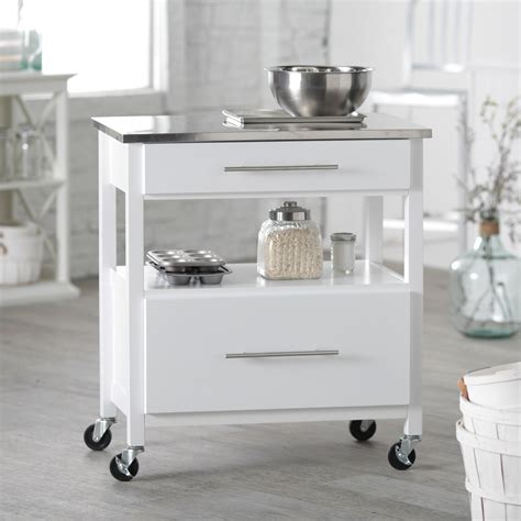 white kitchen island with stainless steel top belham living white mini concord kitchen island with stainless steel top kitchen islands and
