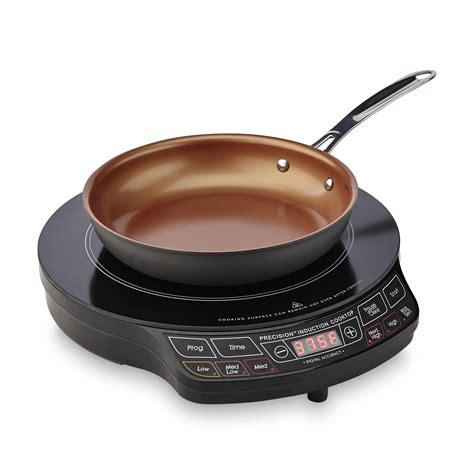 induction cooking infomercial nuwave oven 30131 precision nuwave 2 induction cooktop frying pan shop your way