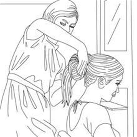 beauty salon pages coloring pages