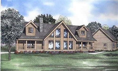 Country Style House Plans With Porches by Log Style House Plan 3 Beds 2 Baths 2521 Sq Ft Plan 17 505