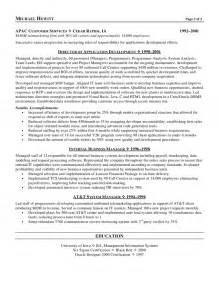 skills for information technology resume cio chief information officer resume