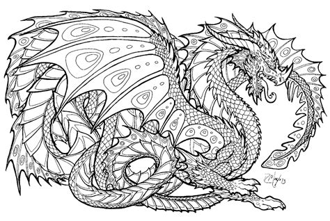 detailed coloring pages of dragons free printable coloring pages advanced dragons other