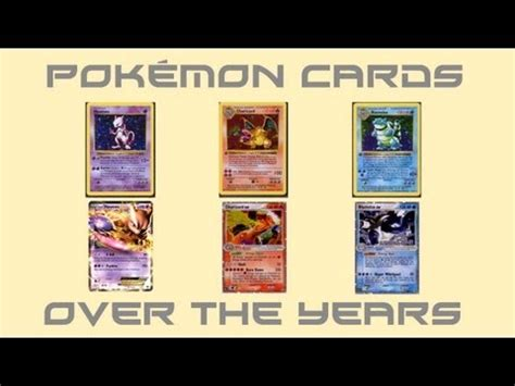 youtube layout through the years pok 233 mon cards over the years youtube