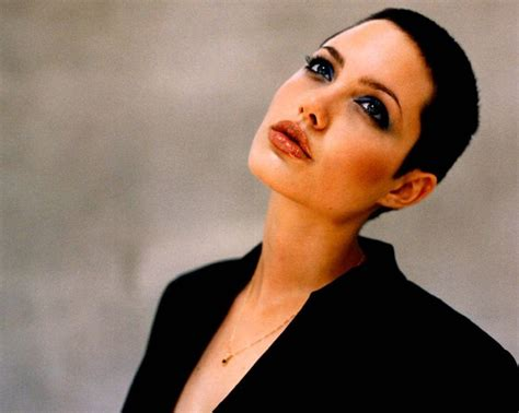 angelina jolie buzz cut 17 best images about angelina jolie on pinterest united