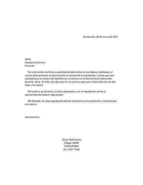 carta de finiquito carta de solicitud de liquidacion