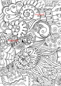 zentangle ispirato adulto colorazione colorazione adulta