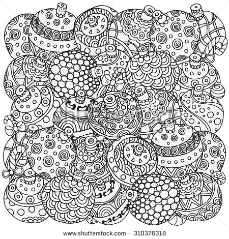 detailed christmas coloring pages for adults christmas coloring anti stress therapy 4 anti stress