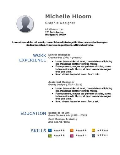 Bold Simplicity Free Resume Template Bold Resume Template