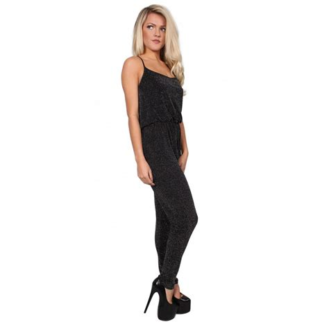 One Jumpsuit by Black Glitter All In One Jumpsuit From Parisia