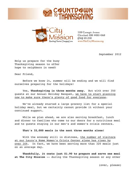 Appeal Letter For Fundraising Sle Letter Direct Mail Fundraising Sles From Mission Resource