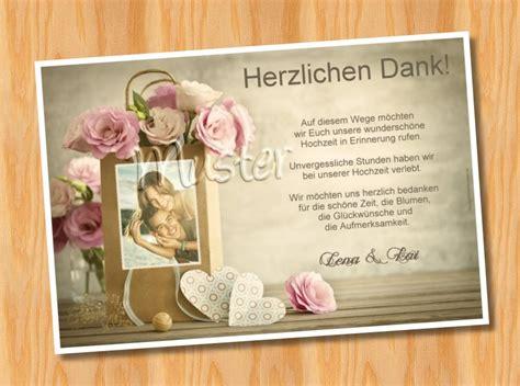 Danksagung Hochzeit by Danksagungskarten Hochzeit
