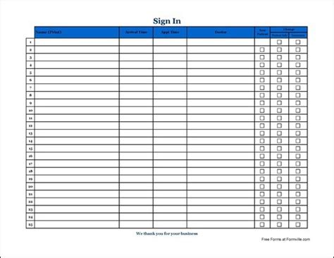 Patient Sign In Sheet Business Letter Template Patient Sign In Sheet Template Pdf