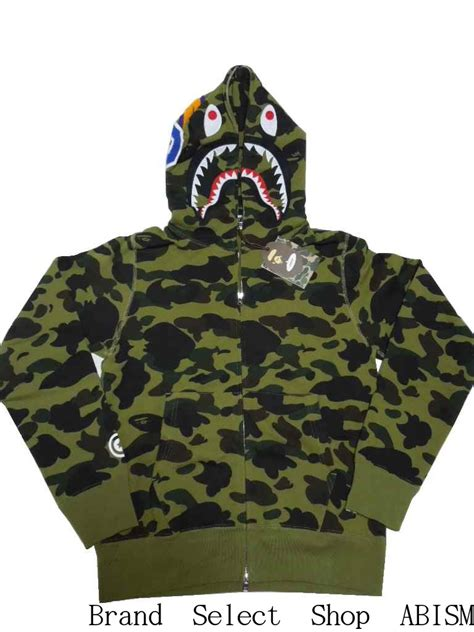 Bathing Ape 1 brand select shop abism rakuten global market a bathing ape ape 1 st camo shark zip