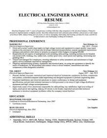 Sle Resume Electrical Engineer Construction Field Hp Field Service Engineer Cover Letter Orientation And Mobility Specialist Sle Resume Skills