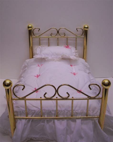 american girl samantha bed american girl doll furniture samantha s brass bed with