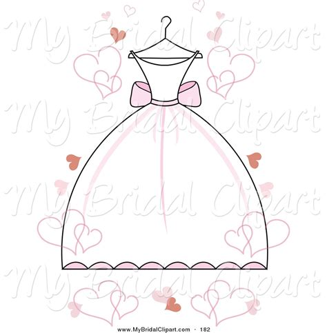 bridal clipart a wedding dress with accents